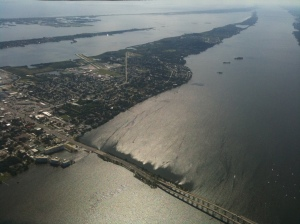 Photograph of Merritt Island, FL from an altitude of about 4,000 feet from a Cessna 172. http://commons.wikimedia.org/wiki/File:Merritt_Island_2.JPG