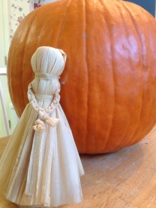 Finished female corn dolly