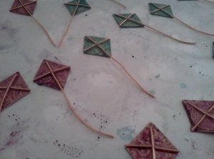 In Progress Back of Kites